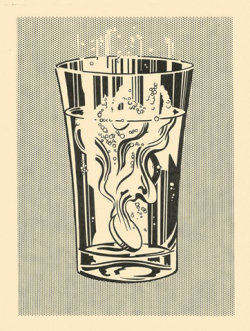 Will always love ya Roy. Alka Seltzer, 1966 Graphite and lithographic rubbing crayon pochoir, with scraping, on cream wove paper, fixed 763 x 567 mm