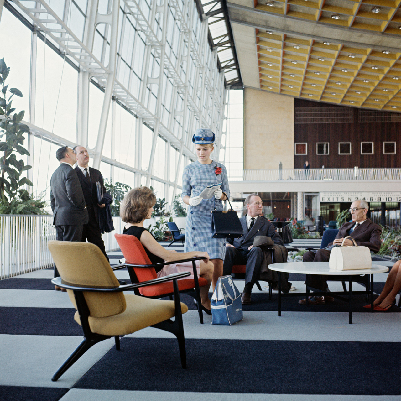 Alfred Hendrickx S3 Chairs, Sabena Airlines first class lounge, Brussels 1958