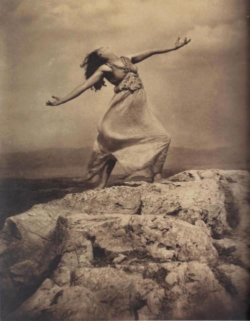 Edward Steichen - Therese Duncan on the Acropolis, Athens, 1921. … from Edward Steichen: Lives in Photography, by Todd Brandow and William A. Ewing, Foundation for the Exhibition of Photography, and the Musee de l'Elysee, Lausanne, 2007.   [one more from this session here] thanks to realityayslum