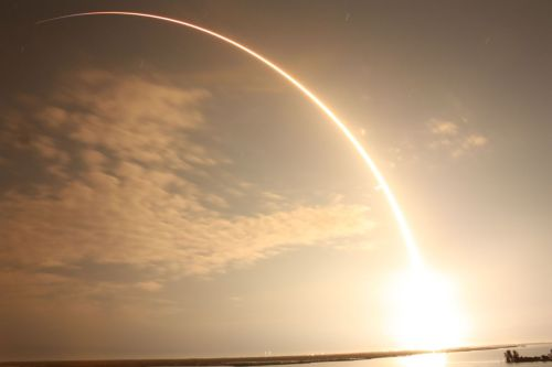 Photo of SpaceX's COTS 2/3 flight.  (via reddit)