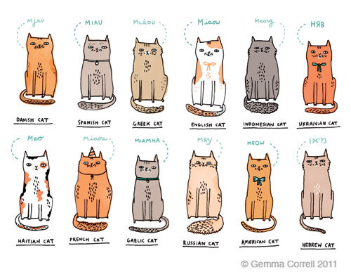 shortbutbittersweet:  International kitties