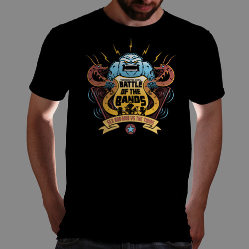 "qwertee:  ""Battle Of The Bands"" is today's tee on www.Qwertee.com Get this great design now for the super price of £8/€10/$12 for 24 hours only. Be sure to ""Like"" this for 1 chance at a FREE TEE this weekend, ""Reblog"" it for 2 chances and ""Follow"" us for a 3rd chance (if you're not already:) Thanks Guys!"
