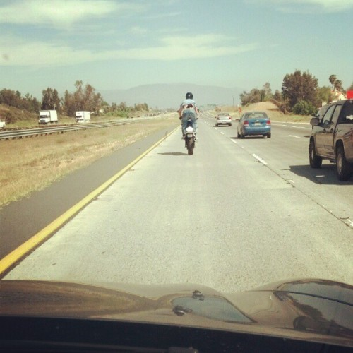 #suzuki #750 #gsxr #freeway #wheelie (Taken with instagram)