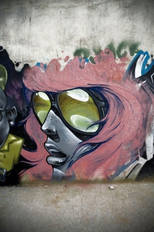 Not sure of the source but this cool street art rocks!