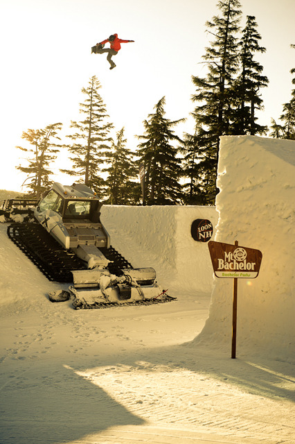 The first ever sunrise shoot at Superpark was done this year, and it was well worth waking up at 4am to session the Loon jump. (video clip here in the full video part) Photo by E-Stone.