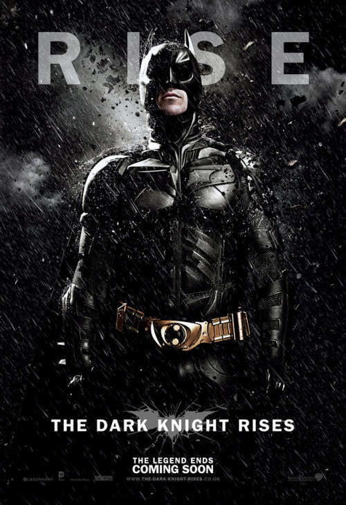 Very badass solo poster of The Dark Knight iheartchaos:  The Dark Knight Rises character posters from the UKall 3 posters