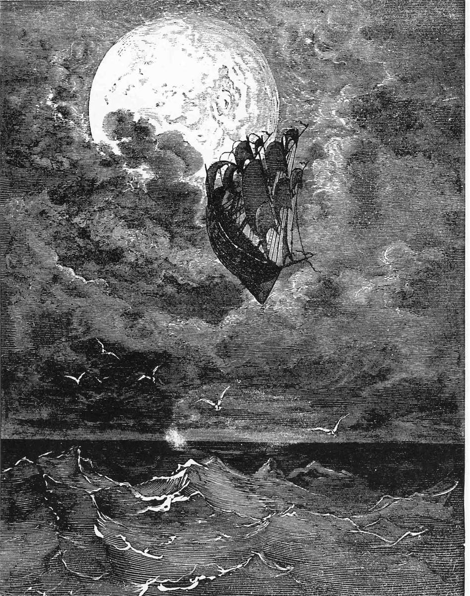 Gustave Doré, A Voyage to the Moon, 1868
