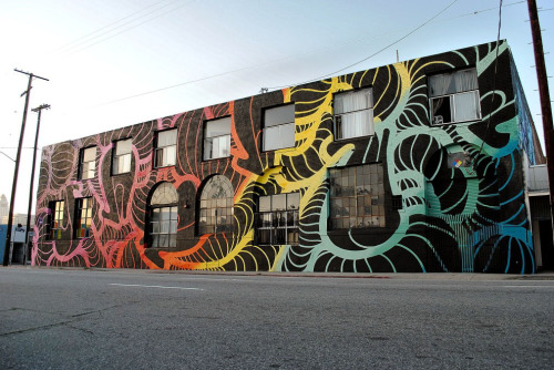 INSA x Art Share L.A. - full building piece, his biggest project to date and also the largest mural in L.A.