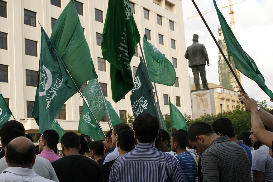 Sunnis Rising: An Islamist rally at Riad as-Solh square in downtown Beirut. The rise of Sunni parties seems to be the big unknown in Lebanese politics at the moment.