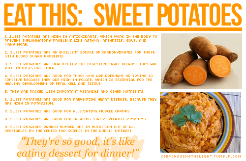 I've recently been on a sweet potato kick!  See more health tips here!