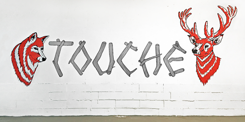 Mural at the Touché Collective Studio by The Bache | Follow The Bache on Facebook
