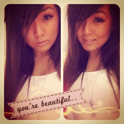 #yourebeautiful #personal #me #myself #girl #beautiful #pretty #asian #chinese #vietnamese #face #smile #beaut #randomrayroxy #randomxrayroxy (Taken with instagram)