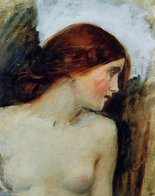 snowce:  John William Waterhouse, Study for the head of Echo