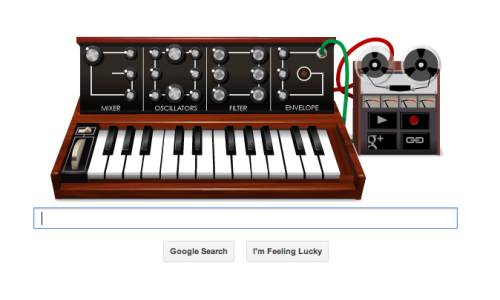 The Google Homepage!