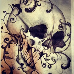 #skull #skeleton #victorian #filigree #sketch #instagraphy #instaography #hipster #iphoneography #instagood #instamood #follow #instatigram #picoftheday #popular #picture #webstagram #photooftheday #love #goodvibes #photo #picture #camera #rad #teamfollowback #followforfollow (Taken with instagram)