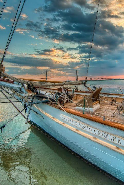 historiccharleston:  Spirit of South Carolina, homeport Charleston
