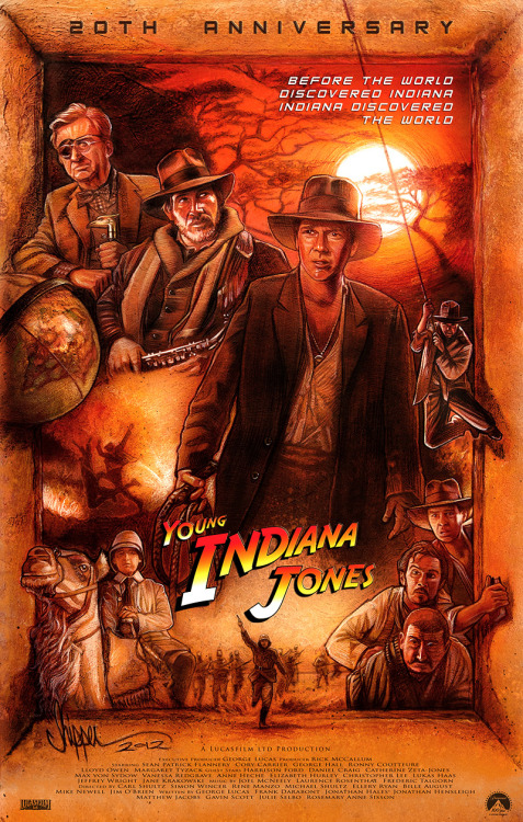 The Young Indiana Jones Chronicles 20th Anniversary illustration by Paul Shipper