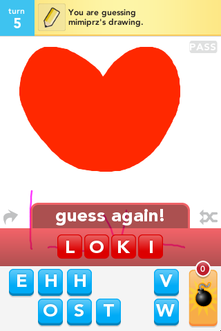 It's weird I spelled Loki on draw some and up top there a heart.SO opposite!!!