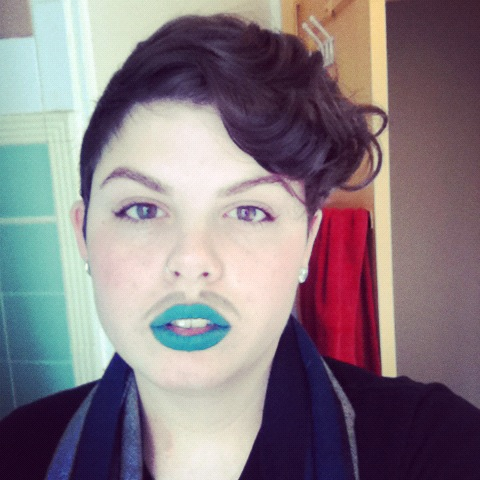 boyqueen:  femmeftm:  can I see yr mustache/lipstick combos and mustache techniques? I've been using alternatively black glitter brown and black pencils mascara  damn i wish i remembered how I even did my mustache in this picture.  whatevs.  reblobbing myself cause I'm a qtpa2t  reblobbing you because you are a qtpa2t