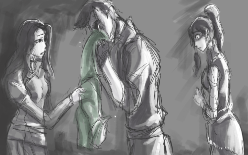 """We're too late.""Sketch to Korrashorts story. It's so perfect so many feels. ;-;  http://korrashorts.tumblr.com/post/23514473386/tabula-rasa-equalist-bolin-fic-borra-prologue"