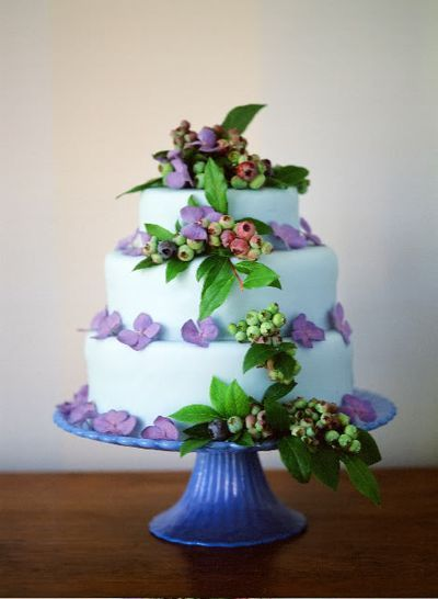 Fun cake! I love that it is not white or pink… Most wedding cakes use pink or white for the body of the cake.. So this is a fun change of pace!