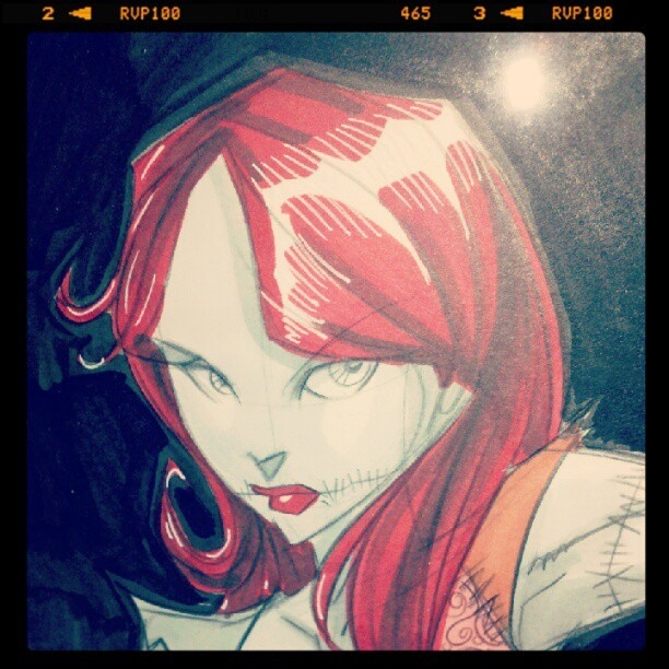 Sally by Tom Hodges #sketch #art  (Taken with instagram)