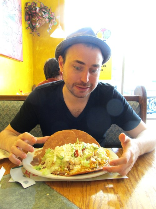 matt's giant chalupa.  doesn't even know where to start!