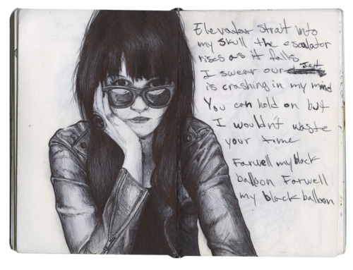 Sketch of Alison Mosshart.