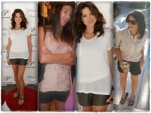 Danneel and Gen being beauitful in shorts (the shorts look alike)