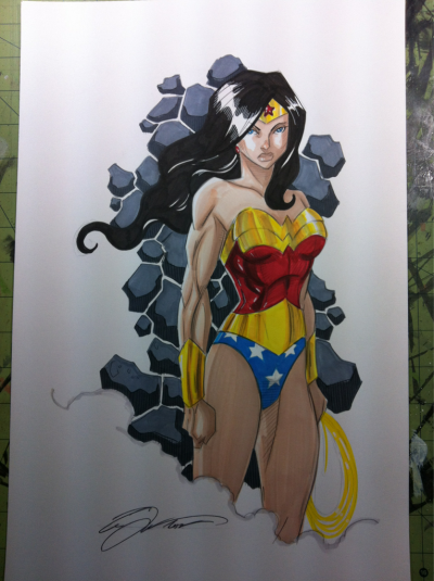 Wonder Woman, commission pickup for Phoenix Comicon
