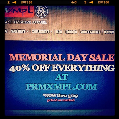 #memorial #day #sale #prmxmpl.com #stayfresh #dope  (Taken with instagram)