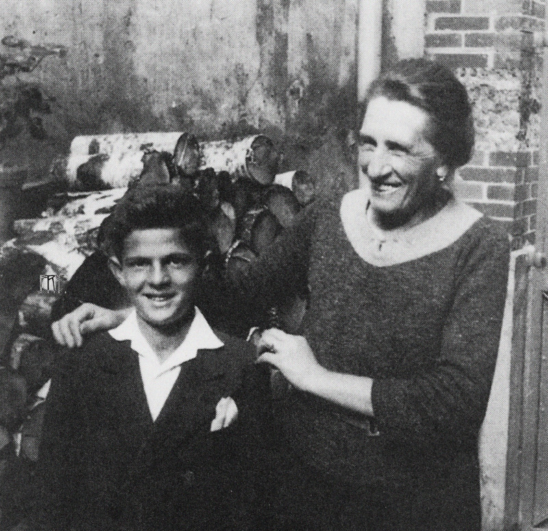 François Truffaut with his paternal grandmother in Juvisy, 1940's.