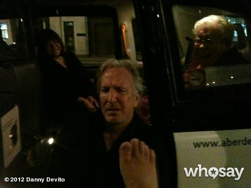 neadypants:  Danny DeVito's foot with Alan Rickman's face. Glorious.
