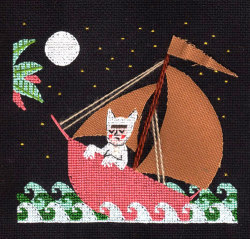 Max and His Sailboat an adorable cross-stitch by Samantha Purdy This book was my childhood.