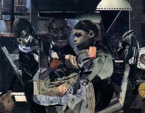 Romare Bearden Evening 9:10, 461 Lenox Avenue 1964