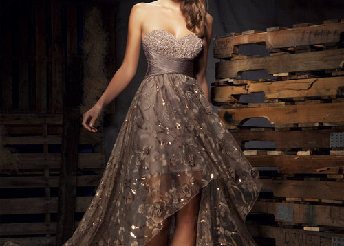 Elegant Brown Wedding Dress - Love It So Much on We Heart It. http://weheartit.com/entry/29123257