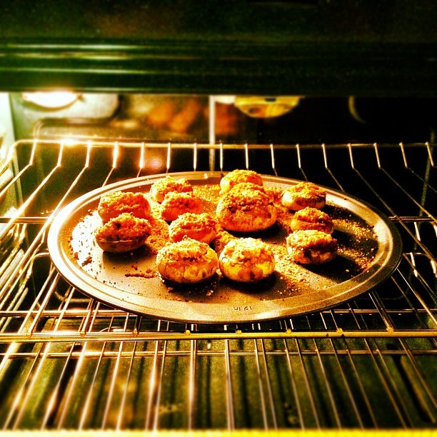 Stuffed #mushrooms. Recipe courtesy of Mom Celusniak. (Taken with Instagram at instacanv.as/teajuice)