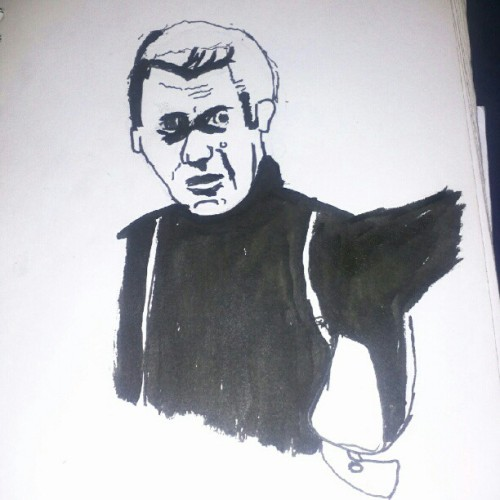 Steve McQueen - When writers draw.  (Taken with instagram)