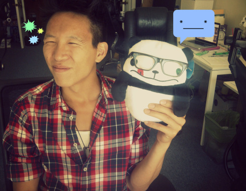 wongfuproductions:  Awkward Panda stole Chris' glasses! (*____*) Twitter (x) Facebook (x) Awkward Panda (x)