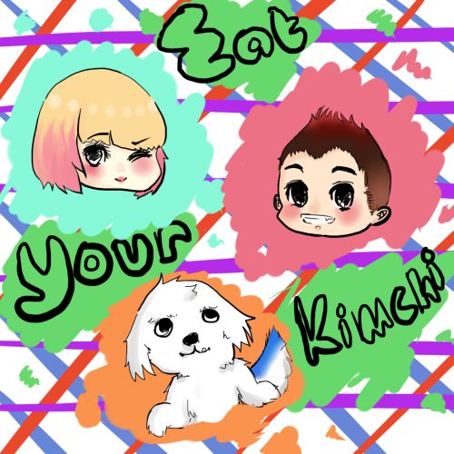 yachumi:  Simon, Martina, and the Spudgy from eatyourkimchi!  Drawn on Paint Tool Sai and streamed on Kondoot.  OMFG SPUDGY IS SO CUTE!  Please send us the link to the Kondoot streaming!