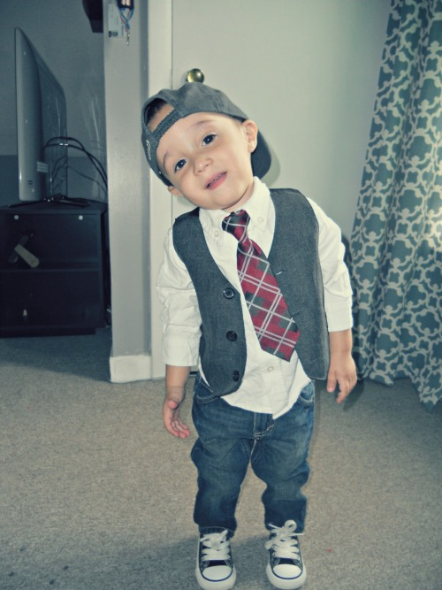 swagbabies:  my son 1 year old - xavier
