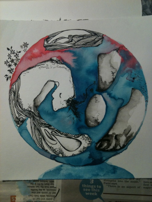 eatsleepdraw:  Watercolour, ink and fine liner