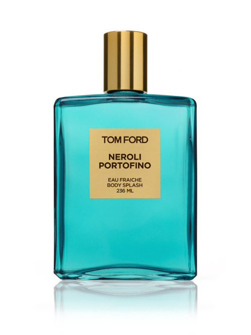 NEW! TOM FORD NEROLI PORTOFINO EAU FRAICHE BODY SPLASH TOM FORD Launches a new fragrance inspired by the Italian Riviera. Like the Italian Riviera, NEROLI PORTOFINO resonates style and charm, expensive taste with a twist of romance. True to the mediterranean tradition EAU FRAICHE is made to be splashed all over the body.  The heavy weight turquoise glass holds such ingredients as winter yellow mandarin, Sicilian lemon, Italian bergamot, Lavender, orange flower, rosemary and amber. Also Available in the range is Body Moisturiser, Body Oil, Shower Gel, Body Scrub and Bath Bar.
