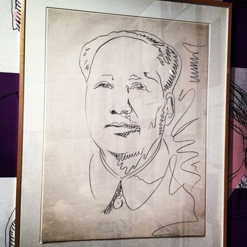 Drawing of Mao- Warhol I love the way he drew..