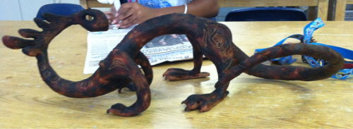 Finished sculpture project!