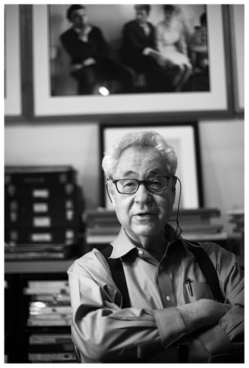 The Magnificent Elliott Erwitt in studio at Central Park photographed by Jonas Cuénin.