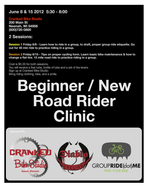 Beginner/New road rider clinic.