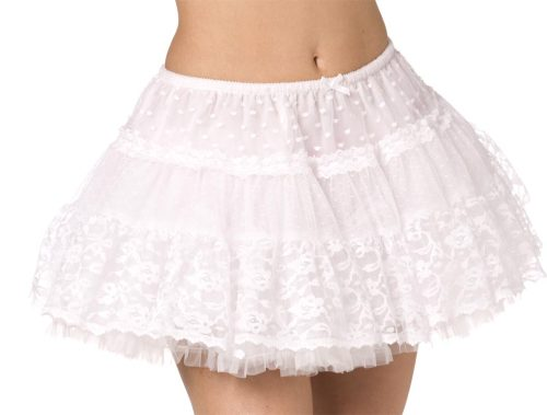 Two instruction sets for making a tiered petticoat.  Tiered petticoats have a rounder fullness and are in style with lolita fashion.  They're really easy to make - I've made them in about an hour - and it's way cheaper to buy netting than to spend it on an overpriced petti.  http://www.otheramusements.com/2009/08/lolita-petticoat-tutorial.html http://home.scarlet.be/fenicia/tutoral/petticoat/petticoate.htm