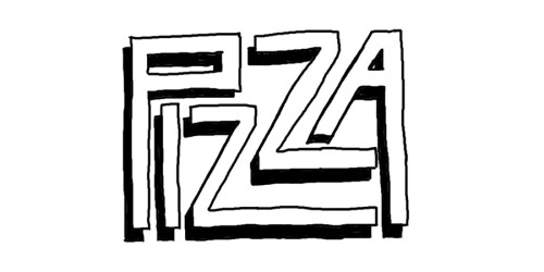 Day 100: Pizza. Wacom in Photoshop.
