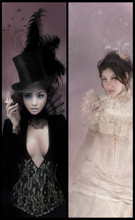 treasuredkeepsakes:  Ladies of London by *enayla @technoelfie.deviantart.com